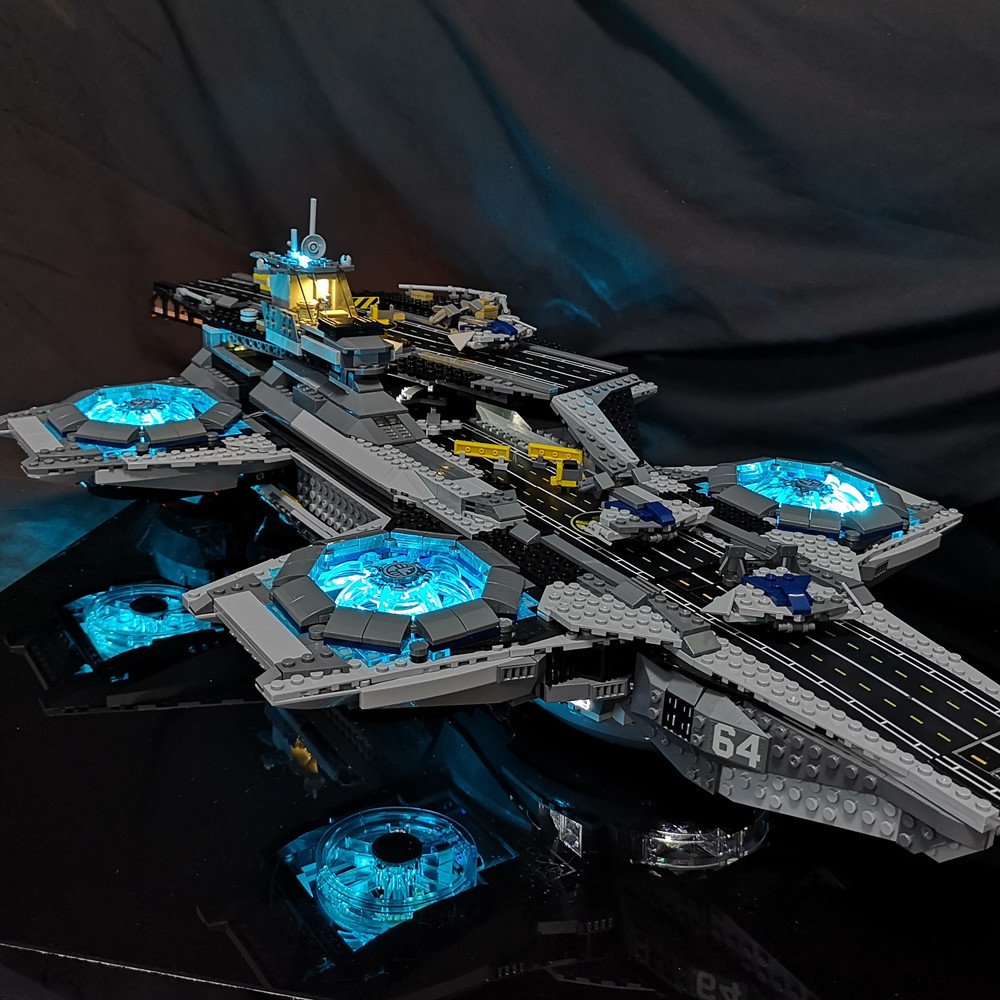 Led Light Kit For Lego The Super Heroes Shield Helicarrier ModeBlocks Model Building Compatible With 76042 And 07043