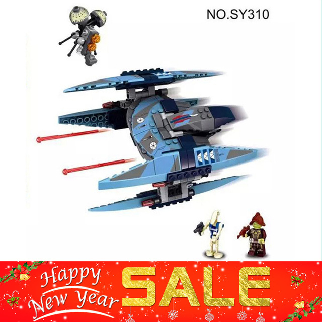 2017 New 221pcs Bela SY310 Star Wars Vulture Droid Model Building Blocks Buzz Droid Battle Compatible for birthday gifi