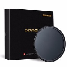 ZOMEI Slim ABS Fader ND2 400 Adjustable filter Neutral Density ND2 to ND400 for DSLR Camera Canon Nikon 49/52/58/67/72/77/82mm