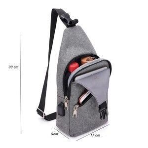 الأزياء عارضة الرجال الصدر حزمة واحدة حقائب كتف USB شحن حقيبة صدر للرجال crossbody أكياس الذكور مكافحة سرقة واحدة حزام الظهر حقيبة