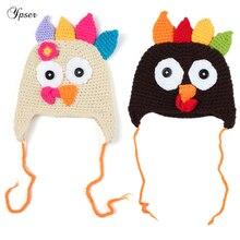 dd4caf3dd47 Turkey Cute Beanie Hat Animal Winter Cap Handmade Knitted Crochet Bonnet  Toddler Newborn Earflap Thanksgiving Hat