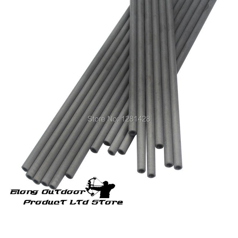 12Pcs Carbon Shaft Tube 30 Spine 300 4 2mm Diameter Straightness 0 006 for DIY Carbon