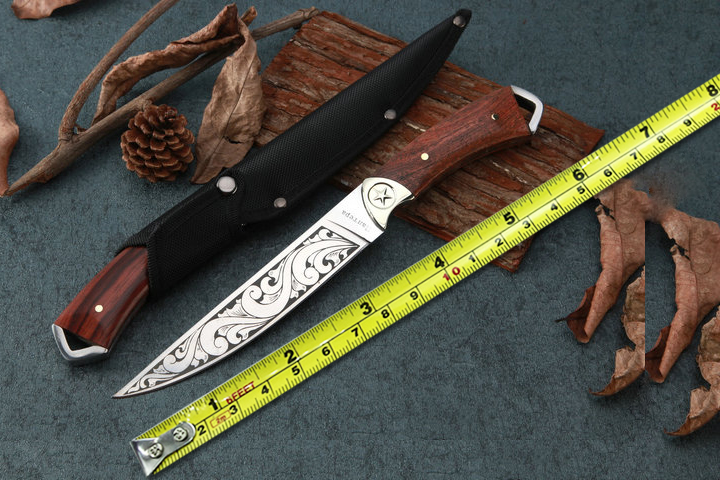 New Outdoor Fixed Blade font b Knife b font 5CR15MOV Blade Survival Straight font b Knives