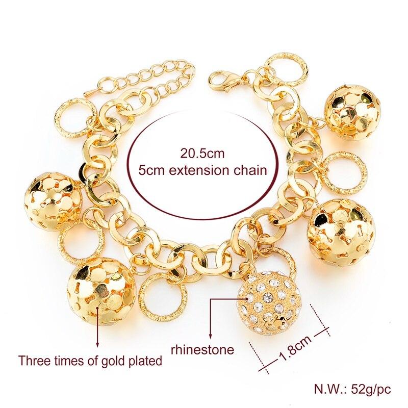 LongWay Strand Bracelet Silver Color Gold Color Bracelets with Hollow Ball Crystal For Women Bracelet Accessories SBR160023103 3