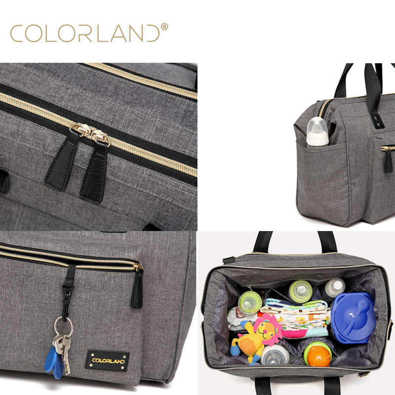 3ce1f6c11f ... COLORLAND Baby Diaper Bag Backpack for Mom Stroller Nappy Changing  Mommy Maternity Mother Organizer Wet Bags ...