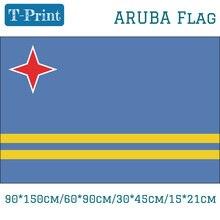 Free shipping Aruba Flag For National Day 90*150cm/60*90cm/15*21cm 30*45cm Car Flag 3x5 Feet цена