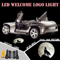 Car Door Welcome Light Projector Laser Dark Knight Wolf Moon Logo GOBO Light Welcome Ghost Shadow