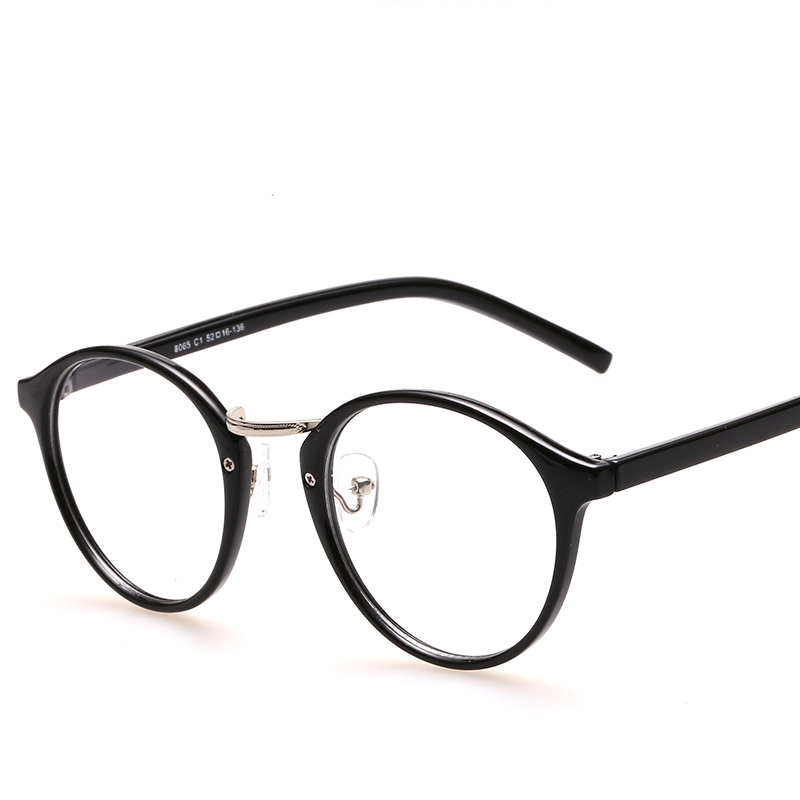 Black Eyeglasses Frames With Clear Lens Retro Optical Frame Round Vintage Eye Glasses Frame Spectacle Eyewear Frames Women Men