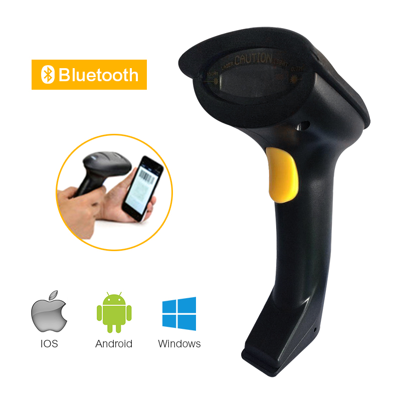 Беспроводной Bluetooth считывания штрих 1D Экран считывания штрих-кода автоматическое сканирование CCD красный свет 300 t/s для IOS7 Android Windows