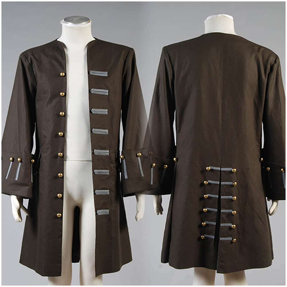 Pirates Of The Caribbean Jack Sparrow Jacket Coat Cosplay Costume Full Sets