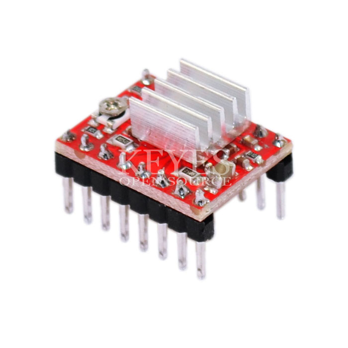 Glyduino 3D Printer Reprap Stepper Driver A4988 Stepper Motor Driver Module with Heat Sinks for Arduino for Raspberry pie