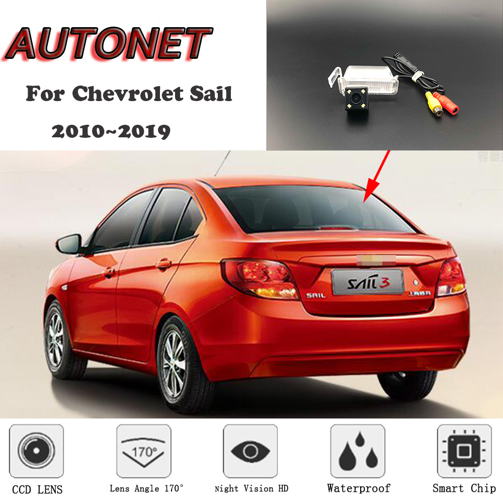 AUTONET HD Night Vision Backup Rear View camera For Chevrolet Sail Springo EV Chevytaxi Premium 2010~2019 license plate Camera