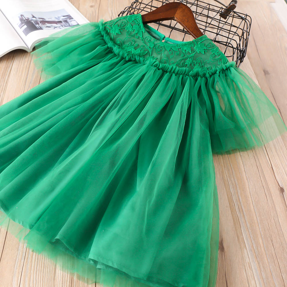 Hurave Casual lace embroidery princess Kids Clothes New baby Girl clothes Summer sleeveless dress cotton party vestido dresses