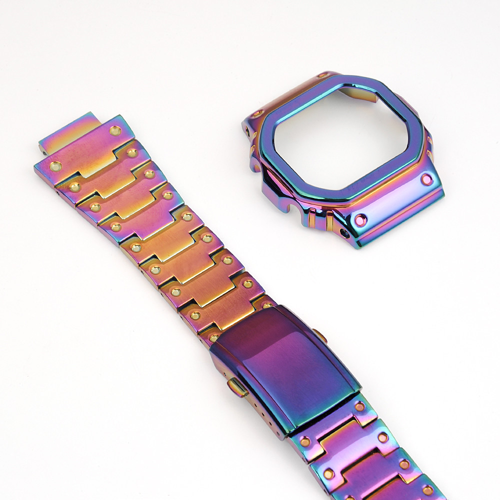 Acier inoxydable bracelets de montre Bracelet de montre Bracelets Bracelet idéal pour Montre DW5600 DW5610 GMWB5000 GW5600 Série En Gros 2019