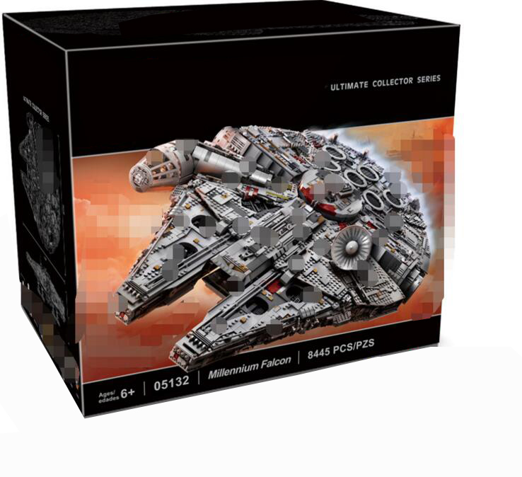 05132 8445Pcs star wars destroyer millennium falcon LegoINGlys 75192 starwars bricks model building blocks toys for boys игровой набор mattel star wars tie fighter vs millennium falcon 2 предмета cgw90