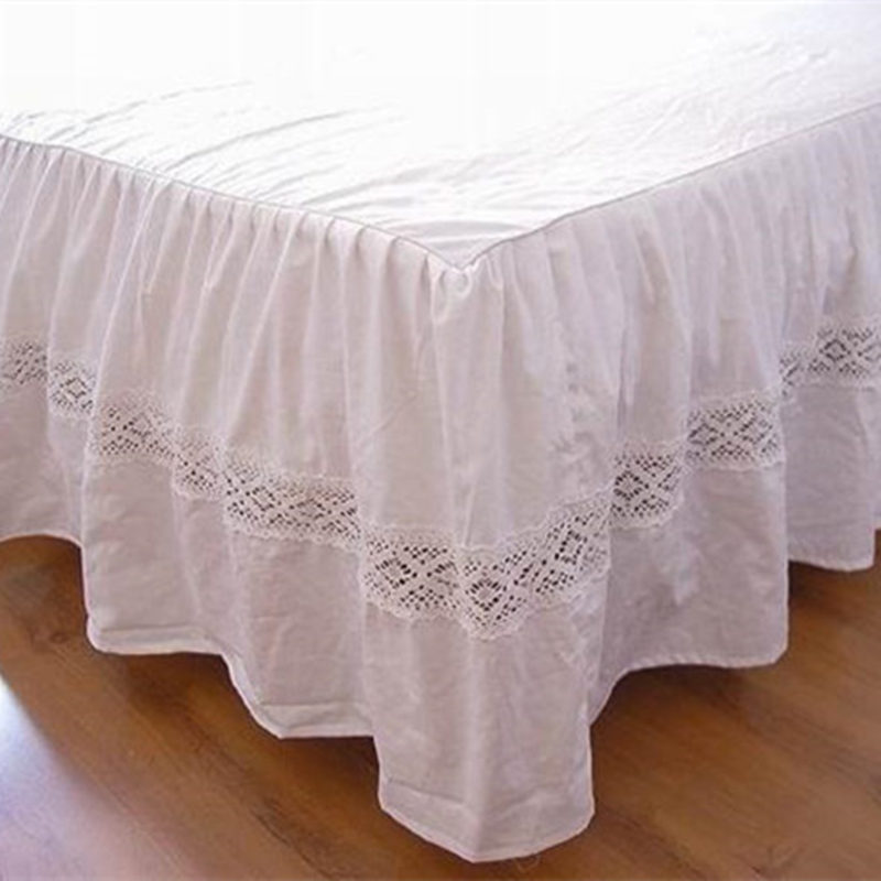 Hot fashion European bed skirt hollow out embroidery bedspread handmade bed sheet for wedding decoration bed