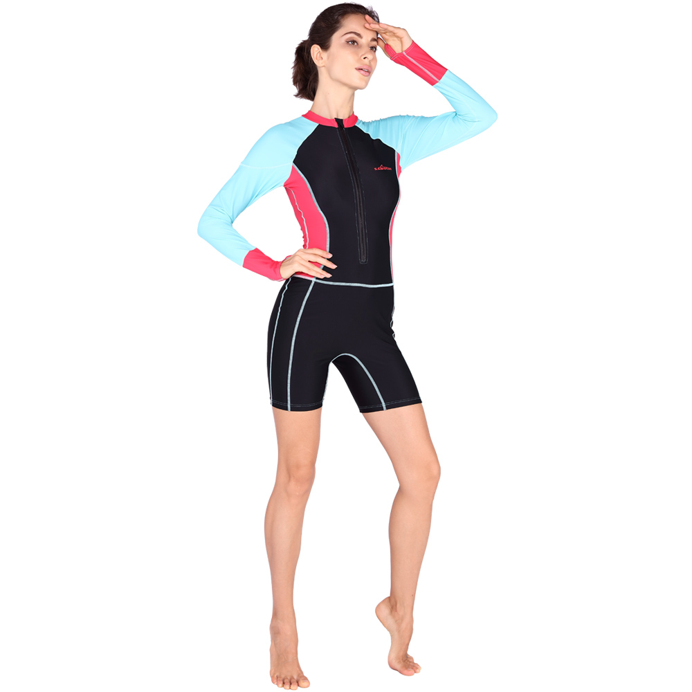 2017 SABOLAY female swimwear a conservative piece of women s swimming wetsuit big yard covered with