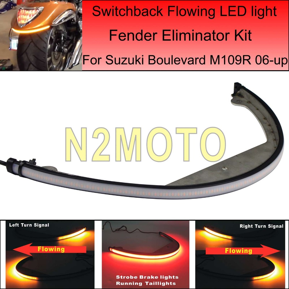 Fender Eliminator Kit Taillights Sequential Flowing LED Turn Signal Light for Suzuki Boulevard M109R M90 2006-UP Лобовое стекло