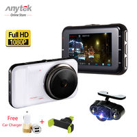 Anytek Car DVRS 3 0 A1H Vehicle Dash Cam Dual Lens Parking Video Record Full HD