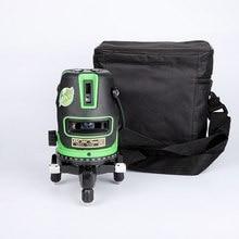 5 линий зеленый лазерный уровень Мощный лазерный луч 3 линии 2 линии автоматический самонивелирующийся 360 горизонтальный и вертикальный перекрестный лазер