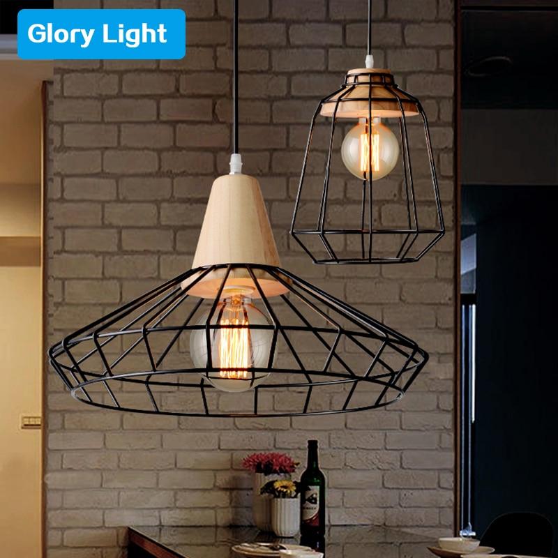 ark light handmade wood led bird cage pendant lamp solid woo