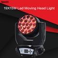 19X15 Вт Светодиодный фонарь с зумом с движущейся головкой RGBW для мытья Effcect для Dj оборудования