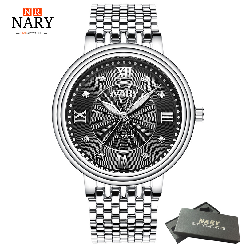 NARY Top Brand Watch Ladies Quartz Watches Simple Dial Women Men WATCH Fashion Lovers' Leisure Wristwatches Relogio Feminino hot sales geneva brand silicone watches women ladies men fashion dress quartz wristwatches relogio feminino gv008