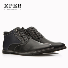 XPER Brand Autumn Winter Men Shoes Martin Boots Casual Fashion High-Cut Lace-up Warm Hombre #YM86901BU