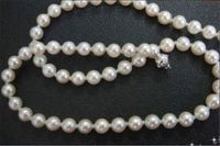 Stunning 18 8 9mm natural south sea genuine white pearl necklace >Dongguan girl jewerly Store