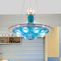 Children House Chandelier LED lamps Flying Saucer Led Lamp Boy Room Illuminations Cartoon Personality Bedroom Lamps wl3291707