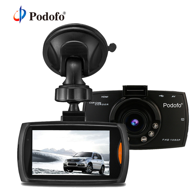 "Podofo Car DVR Camera 2.7 "" G30 Full HD 1080P 170 Degree Dashcam Registrars Night Vision Video Recorder G-Sensor Dash Cam DVRs"
