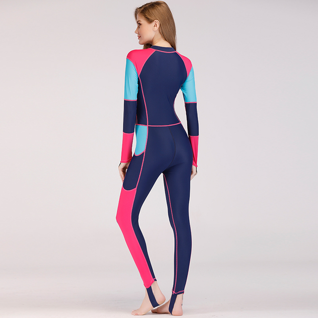 Lycra Wetsuit Women Long Sleeve Full Body Surfing Spearfishing Swimsuits With Breast Pad Scuba Diving Triathlon Wet Suit N
