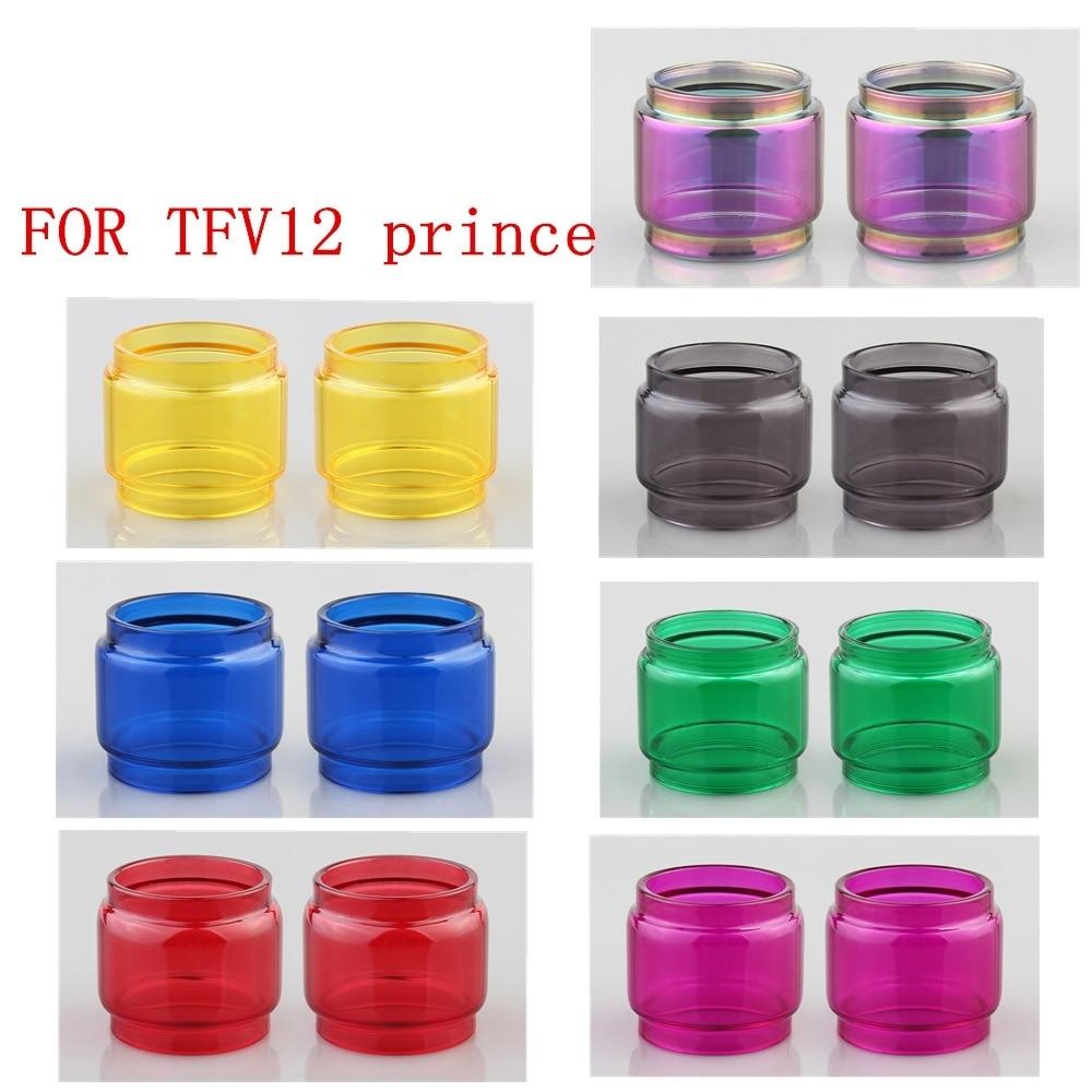 2pcs Glass Tube For SMOK TFV12 Prince Replacement Bulb Tank Pyrex Glass Tube