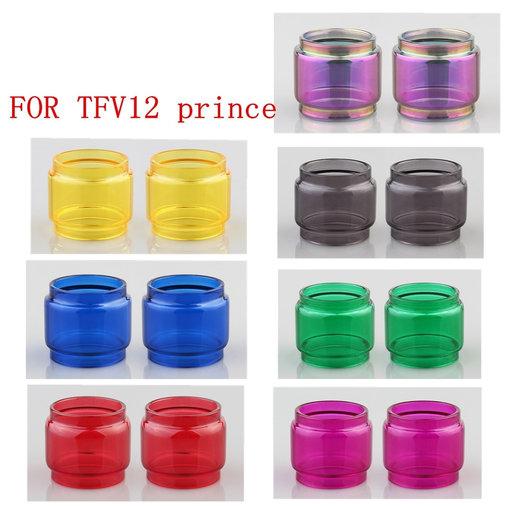 2pcs <font><b>Glass</b></font> Tube for SMOK <font><b>TFV12</b></font> <font><b>Prince</b></font> Replacement <font><b>Bulb</b></font> Tank Pyrex <font><b>Glass</b></font> tube image