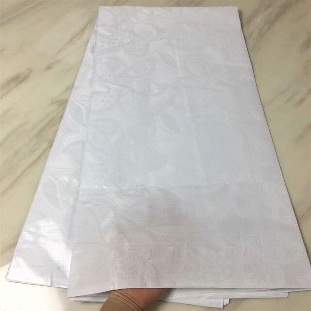 Atiku tessuto per gli uomini bazin riche getzner bianco tessuto africano del merletto materiali indiano bacino riche getzner commercio all'ingrosso 5 yard/ set