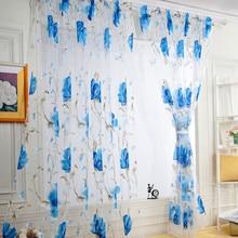 Виниловые листья, тюль, занавеска на дверь, окно, драпировка, панель, отвесный шарф, подзоры, занавески для гостиной, домашний декор, прозрачная вуаль, подзоры