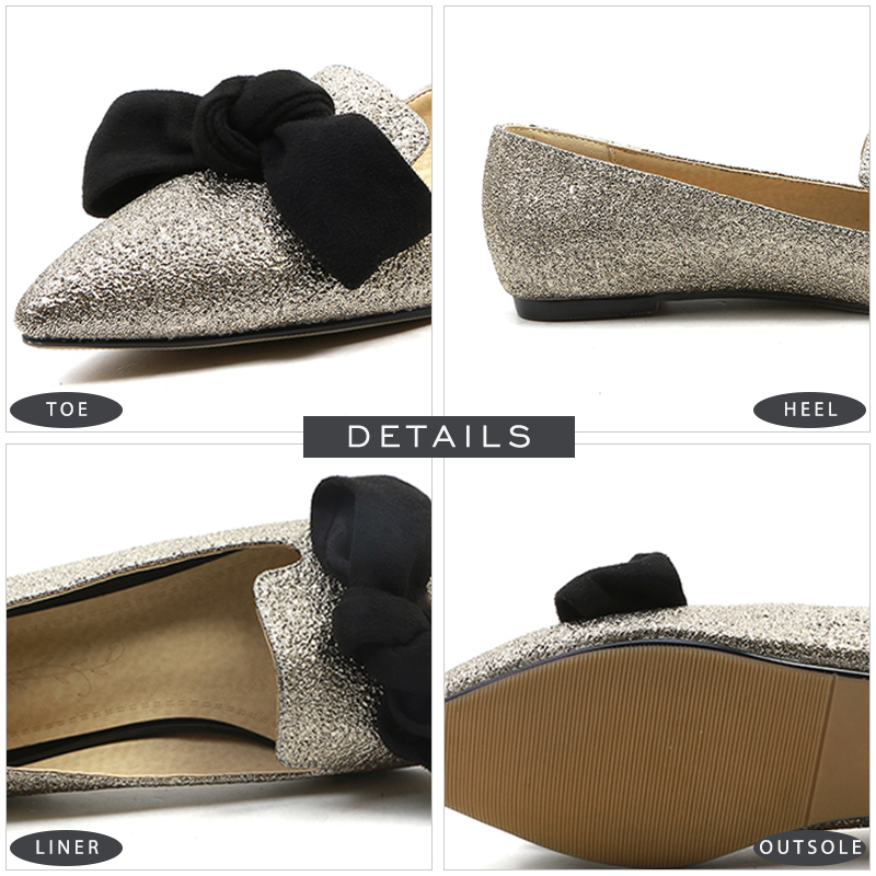 55ce8f8022f JK Big Size Fashion Women Flats Spring Pointed Toe Butterfly Knot Shallow Ladies  Shoes Flat Outsole Slip On Female Boat Shoes-in Women s Flats from Shoes on  ...