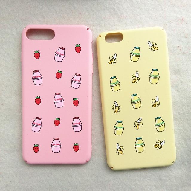 93250f695c For iPhone 7 Plus Case 3D Kawaii Milk Bottle Matte Banana Cover for iphone7  6 s 6s plus 6plus Phone Cases DHL Free Ship