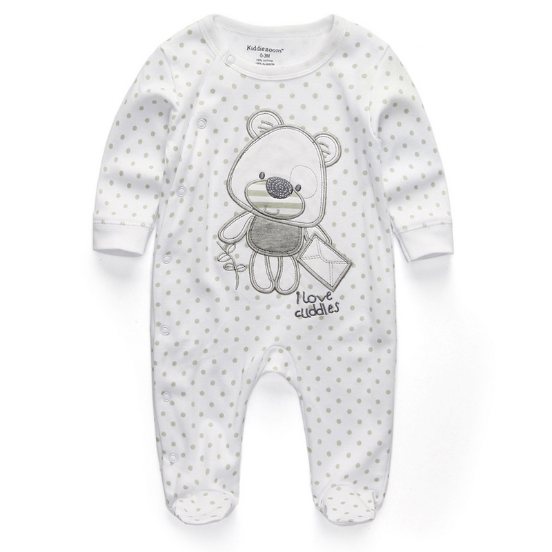 Для маленьких девочек сна; одежда для сна с мультяшным рисунком для малышей Детские пижамы хлопок Длинные рукава Детские пижамы с надписью «i love daddy» детские комбинезоны с рисунками - Цвет: cuddles1