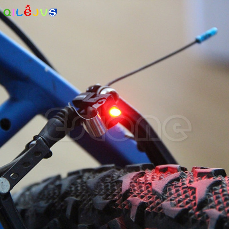 Portable Brake Mini Bike Light Mount Tail Rear Bicycle Led Light Cycling Button Battery Power Supply High Quality