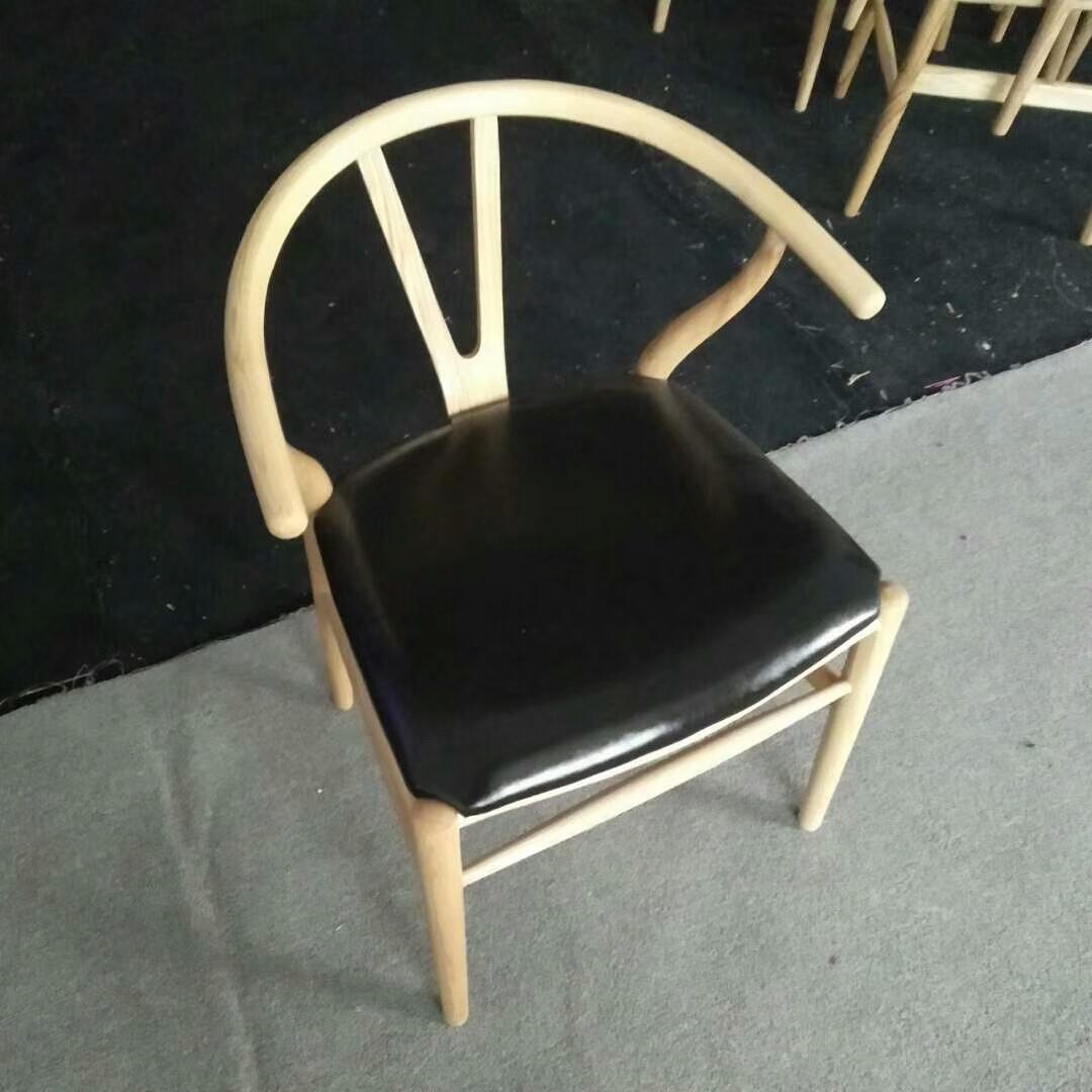 Скандинавский современный из натурального дерева простой обеденной стул из ясеня для отдыха дома спинка деревянного кресла Кеннеди китайский стиль Y стул - Цвет: style 7