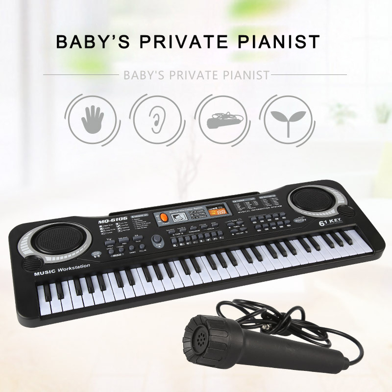 Multi-function 61 Keys Keyboard Electronic Organ with Microphone Music Simulation Of Piano Children Toys Baby Kids Music Toy