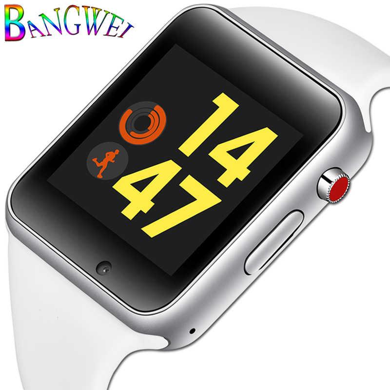 BANGWEI 2018 新しい腕時計女性スポーツ歩数計 LED デジタル腕時計 SIM カメラ音楽ビデオプレーヤースマートウォッチと Android + ボックス