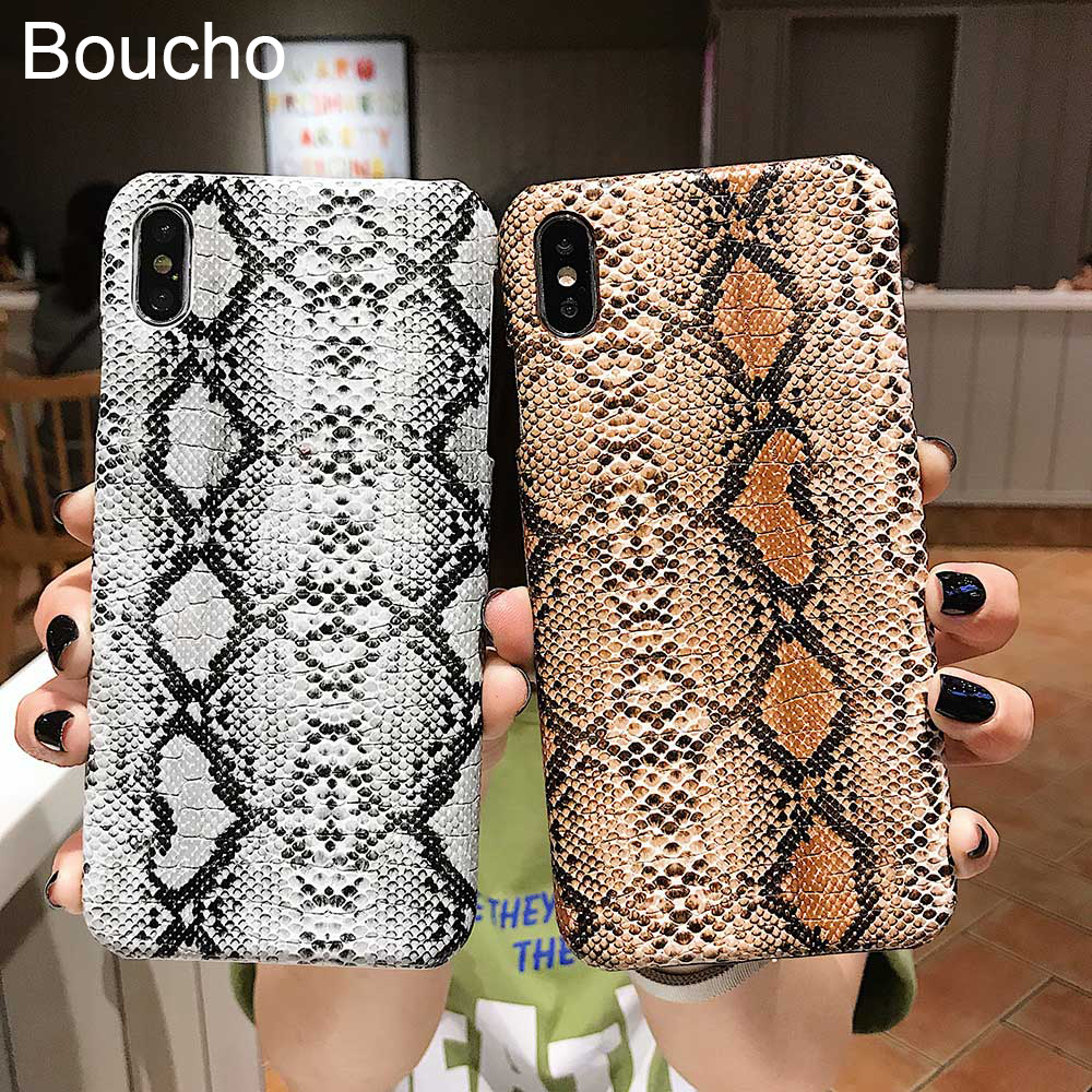 Für <font><b>iphone</b></font> 11 Pro Xs MAX XR X 8 plus <font><b>Cases</b></font> Python Schlange Haut Textur Telefon Fall Für <font><b>iphone</b></font> 8 7 6 <font><b>6S</b></font> Plus Luxus PU Leder Abdeckung image