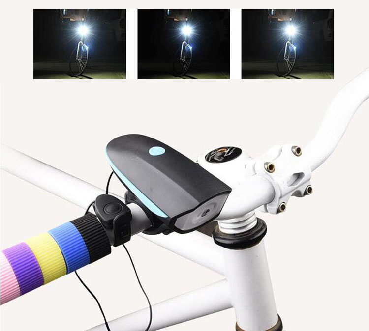 Mountain bike lamp front lamp strong Light Flashlight USB charger charged <font><b>horn</b></font> Bell ride accessories