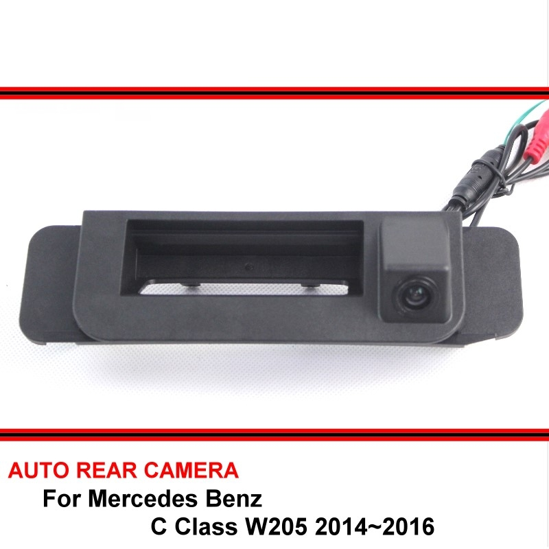 For Mercedes Benz C Class W205 2014 2015 2016 Trunk handle HD Car Rearview Parking Reverse