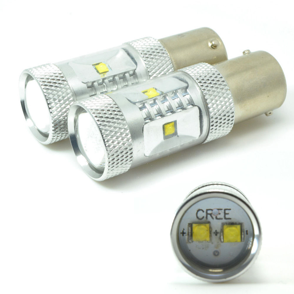 No Error CREE XBD 30W 1156 LED Canbus Bulb Car Backup Reverse Turn Tail Light lamp Xenon White S25 P21W BA15S 7506 ruiandsion 2x75w 900lm 15smd xbd chips red error free 1156 ba15s p21w led backup revers light canbus 12 24vdc