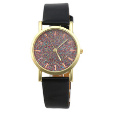 Newly Design Women's Glitter Watch Quartz Dial Leather Band Analog Wrist Watches Women WristWatches Female Clock relojes mujer