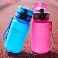 UZSPACE 350ML Water bottles Kids Cartoon Lovely Eco-friendly Plastic Shaker Sports Drink My Bottle Portable leakproof Drinkware