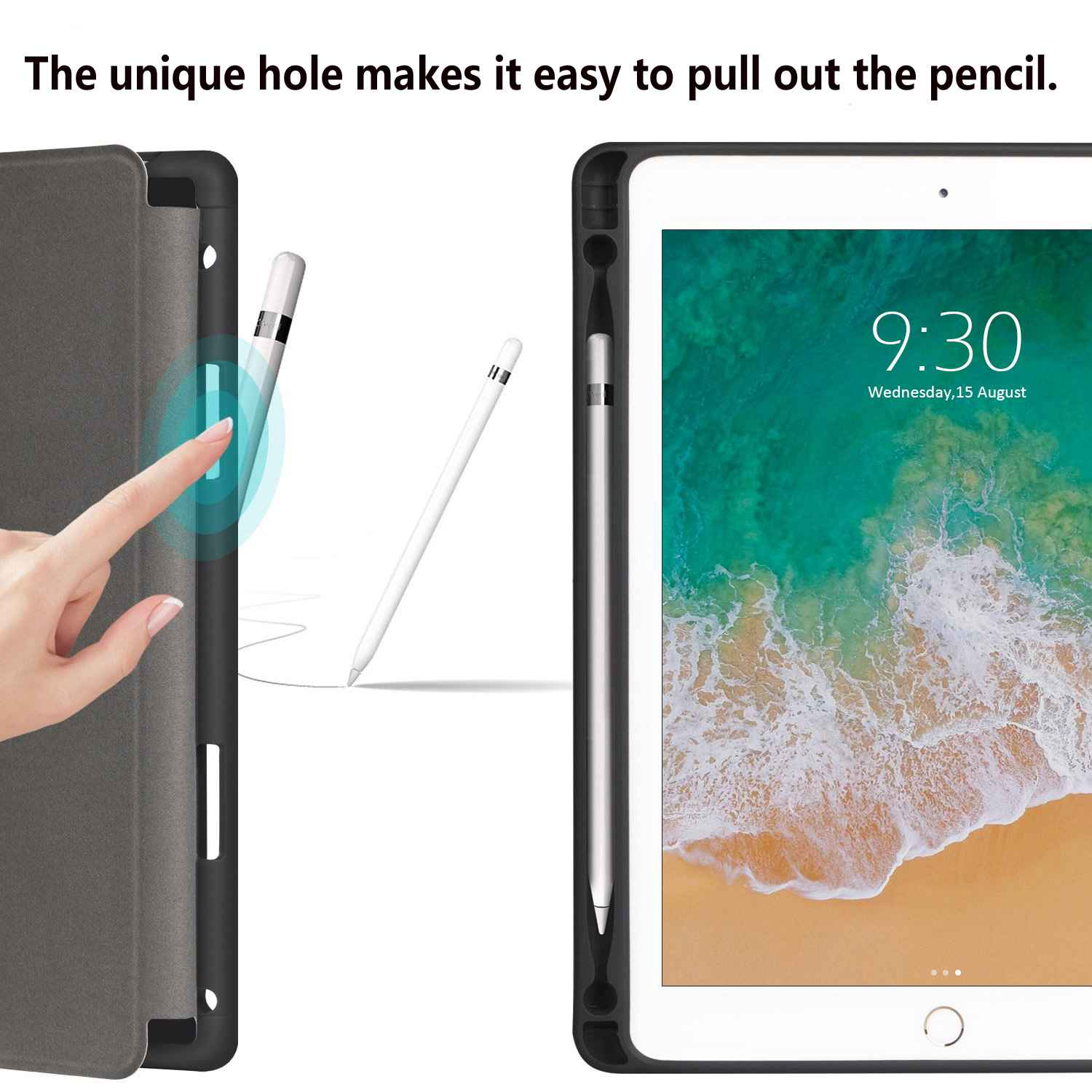 7 2019 10.2 For Apple Case with Holder 7th Leather Cover for PU iPad Smart Pencil iPad
